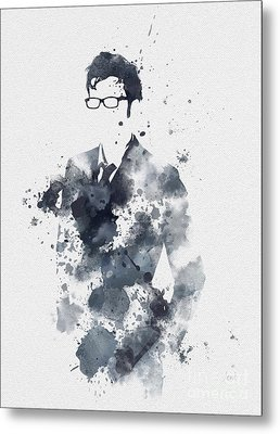 The Tenth Doctor Metal Print by Rebecca Jenkins