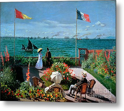 The Terrace At Sainte Adresse Metal Print by Claude Monet