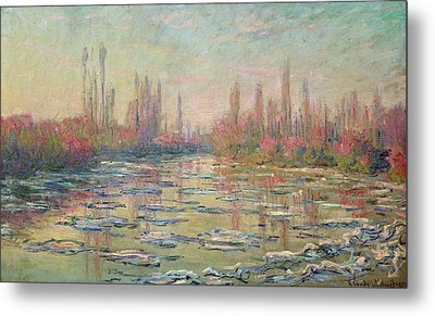 The Thaw On The Seine Metal Print by Claude Monet