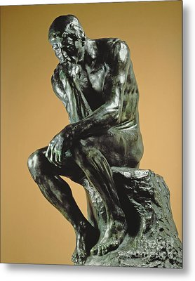 The Thinker Metal Print by Auguste Rodin
