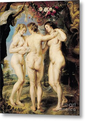 The Three Graces Metal Print by Peter Paul Rubens