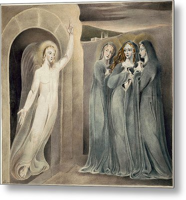 The Three Maries At The Sepulchre Metal Print by William Blake