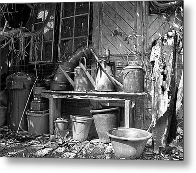The Tool Shed Metal Print by Brian Roscorla