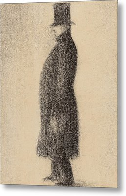 The Top Hat Metal Print by Georges Pierre Seurat