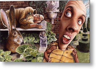 The Tortoise And The Hare Metal Print by Denny Bond