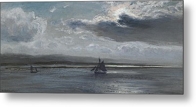 The Traeth Mawr, Moonlight Metal Print by Henry Moore