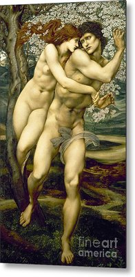 The Tree Of Forgiveness Metal Print by Sir Edward Burne-Jones