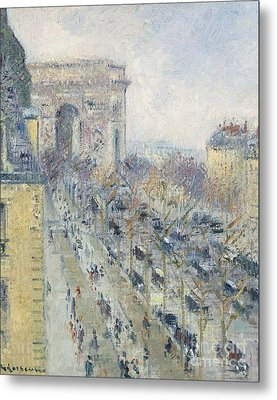 The Triumph Arch And Friedland Avenue Metal Print by MotionAge Designs