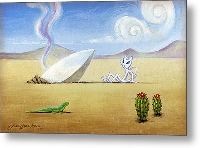 The Truth About Roswell Metal Print by John Deecken