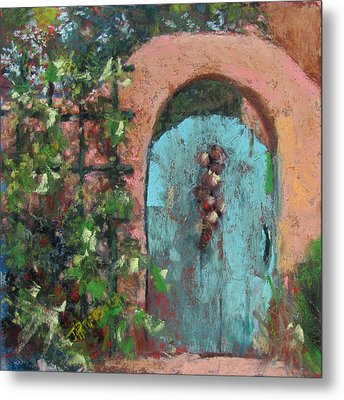 The Turquoise Door Metal Print by Julia Patterson