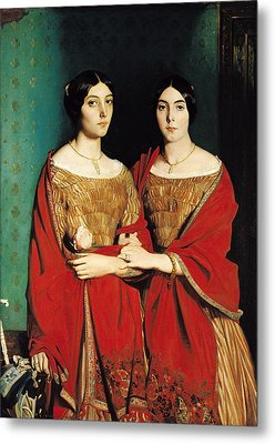 The Two Sisters Metal Print by Theodore Chasseriau