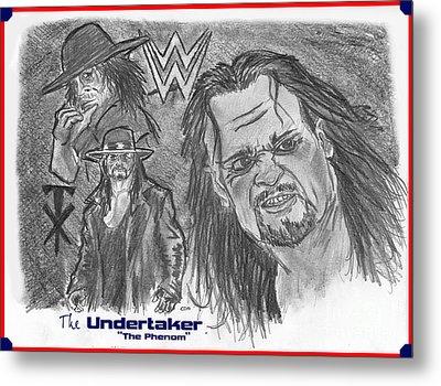 The Undertaker Metal Print by Chris  DelVecchio