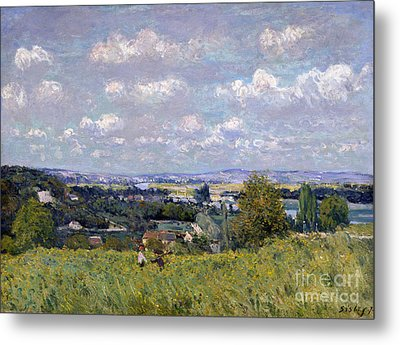 The Valley Of The Seine At Saint Cloud Metal Print by Alfred Sisley