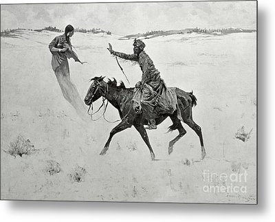The Vision Metal Print by Frederic Remington