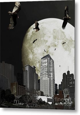 The Vultures Have Emerged From My Dreams Metal Print by Wingsdomain Art and Photography