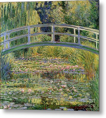 The Waterlily Pond With The Japanese Bridge Metal Print by Claude Monet