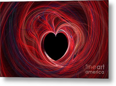 The Way To My Heart Metal Print by Kaye Menner