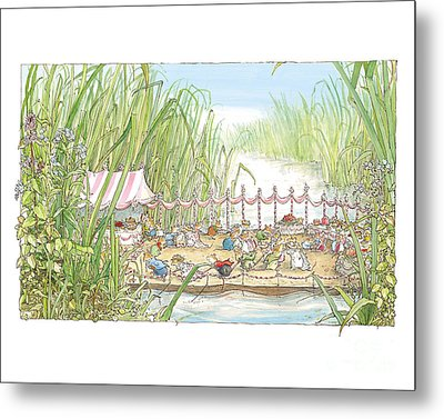 The Wedding Party Metal Print by Brambly Hedge
