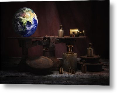 The Weight Of The World Metal Print by Tom Mc Nemar