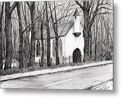 The White Chapel Metal Print by Vincent Alexander Booth