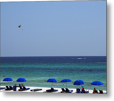 The White Panama City Beach - Before The Oil Spill Metal Print by Susanne Van Hulst