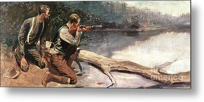 The Winchester Metal Print by Frederic Remington