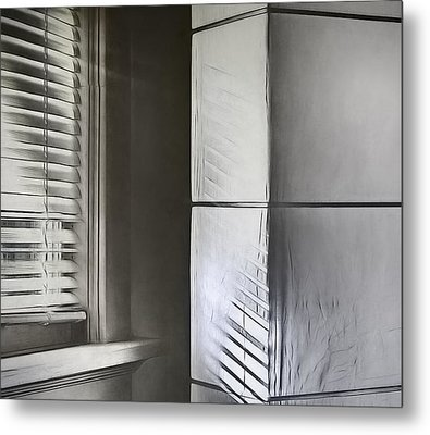 The Window And The Lamp Metal Print by Scott Norris