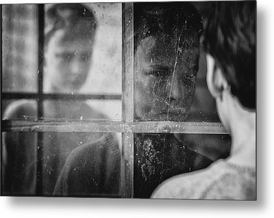 The Window Metal Print by Mirjam Delrue