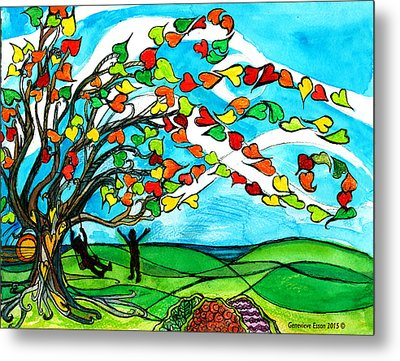 The Windy Tree Metal Print by Genevieve Esson
