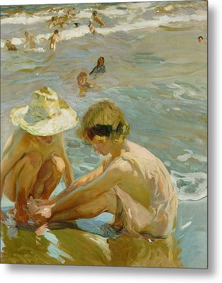 The Wounded Foot Metal Print by Joaquin Sorolla y Bastida