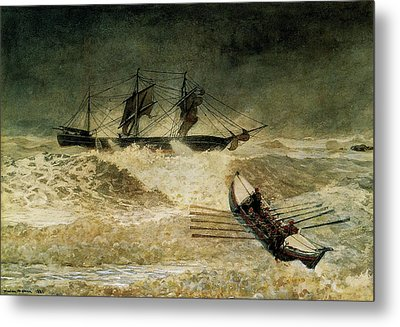The Wreck Of The Iron Cloud, 1881 Metal Print by Winslow Homer