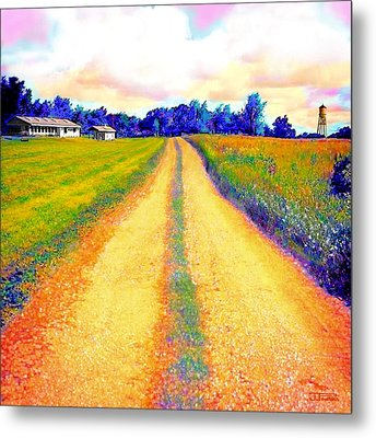 The Yellow Dirt Road Metal Print by Jann Paxton
