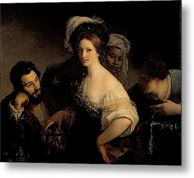The Young Courtesan Metal Print by Alexandre Francois Xavier Sigalon
