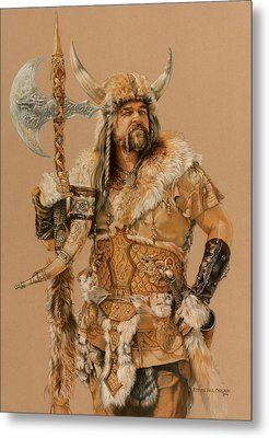 The Young Son Of Bor Metal Print by Steven Paul Carlson