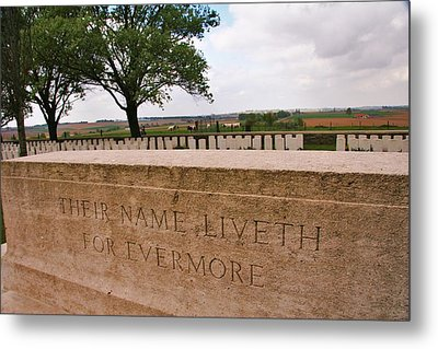 Metal Print featuring the photograph Their Name Liveth For Evermore by Travel Pics