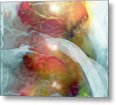 Theta Brain Waves Metal Print by Linda Sannuti