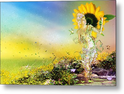 They Call Me Summer Metal Print by Mary Hood