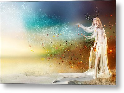 They Call Me Winter Metal Print by Mary Hood
