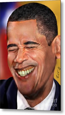They Called Me Mr. President 1 Metal Print by Reggie Duffie