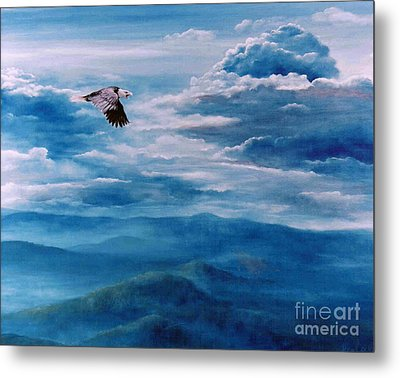 They Shall Mount Up On Wings Of Eagles Metal Print by Ann  Cockerill