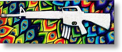 This Is My Rifle Metal Print by Veronika Rose