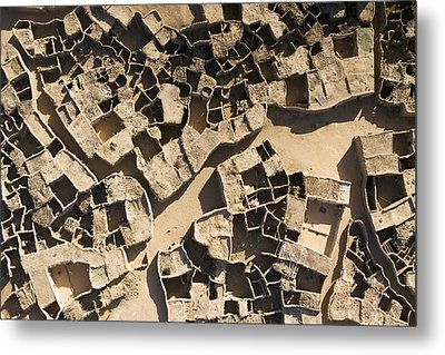 This Old Salt Slab Town In Dirkou Metal Print by Michael Fay