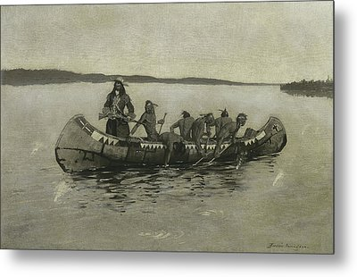 This Was A Fatal Embarkation Metal Print by Frederic Remington