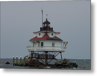 Thomas Point Shoal Lighthouse Metal Print by Paul Sutherland