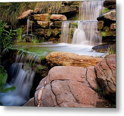 Thorndon Falls Metal Print by Heather Thorning