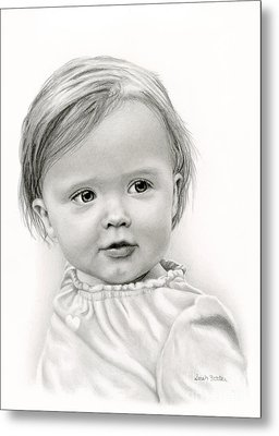 Thoughtful Eyes Metal Print by Sarah Batalka