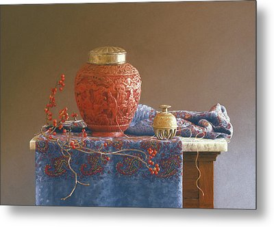 Thread To The Past Metal Print by Barbara Groff