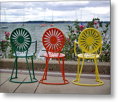 Three Amigos Metal Print by Linda Mishler