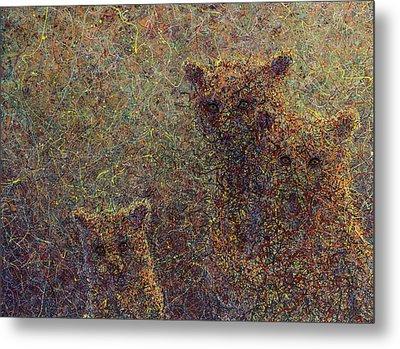 Three Bears Metal Print by James W Johnson
