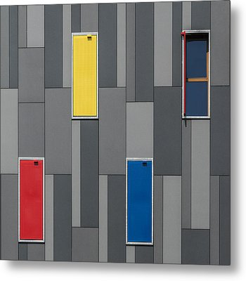Three Colors And A Window Metal Print by Jef Van Den